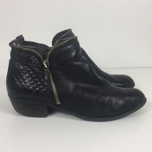 Lucky Brand Black Leather Bartalino Booties